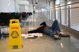 winning wet floor slip and fall accident claim